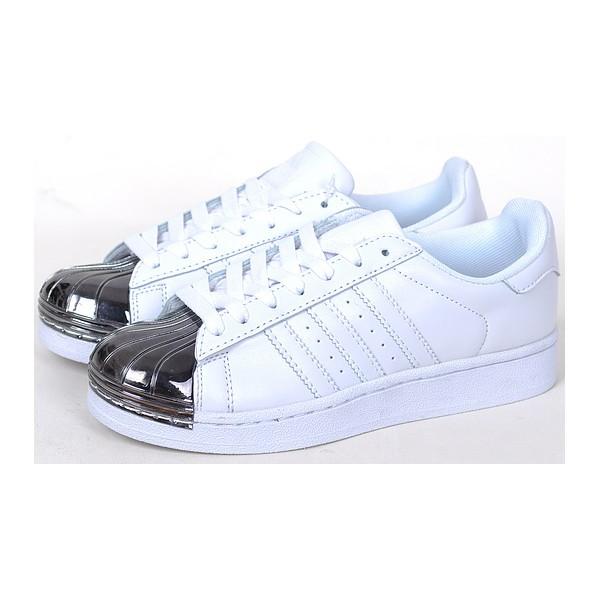 grossiste f2af3 50592 adidas superstar blanc metallic