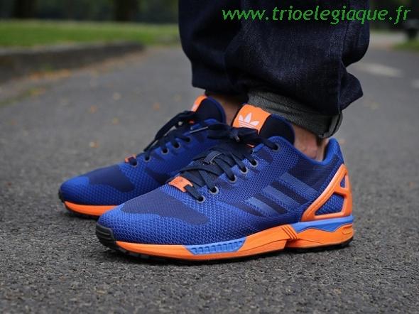 grande vente 61dbf ce57a adidas zx flux orange bleu